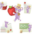 teddy bear in school vector image