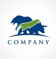 trading logo vector image