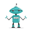 Cute cartoon robots vector image