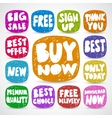 Commercial doodle signs vector image vector image
