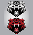 angry grizzly bear mascot vector image vector image