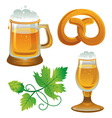 Beer set Collections for Oktoberfest vector image vector image