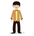 Man with mustache vector image