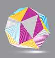 3D abstract design object polygonal complicated vector image