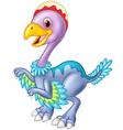 Cartoon baby dinosaur archaeopteryx vector image