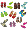 isolated footwear vector image vector image