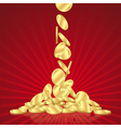 Falling gold coins vector image vector image