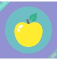 Apple sign icon Fruit with leaf symbol - vector image