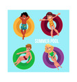banner poster template with children kids vector image