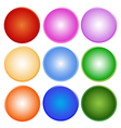 Colorful Set of Shiny Circle Label vector image