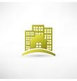 Modern real estate buildings design vector image