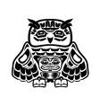North american native art owl vector image
