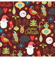 Seamless pattern with New Year elements vector image