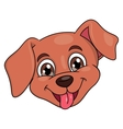 Smiling little puppy head 2 vector image