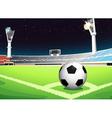 Soccer at night vector image