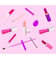Cosmetic background vector image