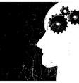 imagination concept gear in head vector image