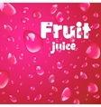 Cherry drops on drink background vector image
