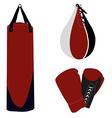 Boxing set vector image