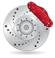 car brake caliper vector image