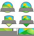 Farming Landscape Emblem Banners set vector image