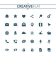 flat user unterface icons vector image
