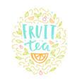 Fruit tea label vector image