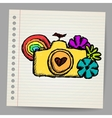 Hand drawn doodle digital camera vector image