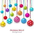 New Year Bckground with Set Colorful Christmas vector image