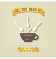 Quote poster - All you need is coffee vector image