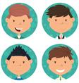 School boys avatar collection vector image vector image