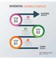 Road business timeline infographic templat vector image vector image