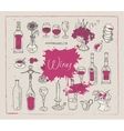 images on the theme of wine vector image