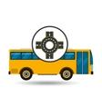 bus transport public roundabout road vector image