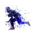 watercolor sketch player of american footba vector image
