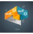 Modern paper infographics options banner vector image