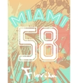 T-shirt print with numbers fun fair and palm trees vector image vector image