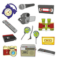 entertainment items vector image vector image