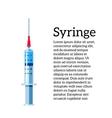Medical syringe on a white background vector image