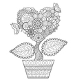 heart tree in the pot vector image