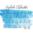 Alphabet letters uppercase lowercase vector image