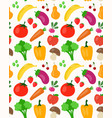 beautiful seamless pattern with fruit vector image