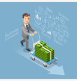 Business conceptual isometric flat style vector image