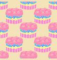 cute seamless cake pattern vector image