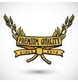 Doodle label premium quality vector image
