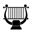 harp - string music classical icon vector image