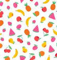 Juicy fruits pattern vector image