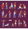 Set of volunteers characters vector image