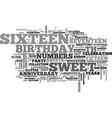 sixteen word cloud concept vector image