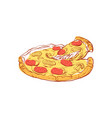 tasty italian pizza isolated icon vector image
